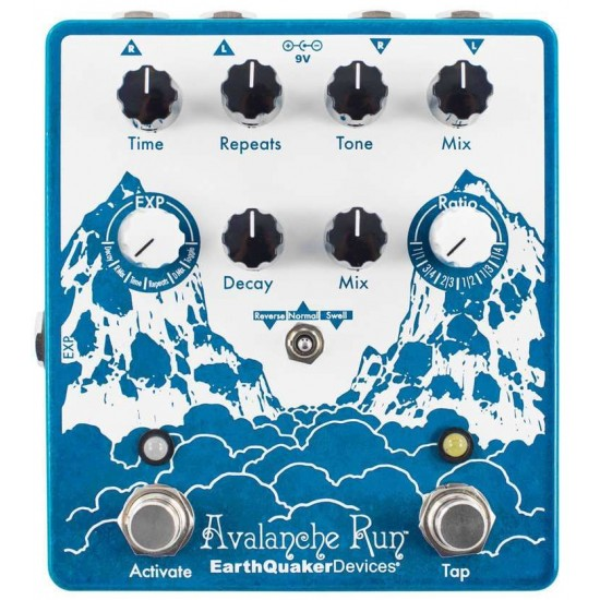 EarthQuaker Devices - Avalanche Run - Stereo Reverb & Delay with Tap Tempo