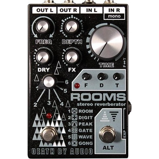 Death By Audio - ROOMS - Stereo Multi-Function Digital Reverb