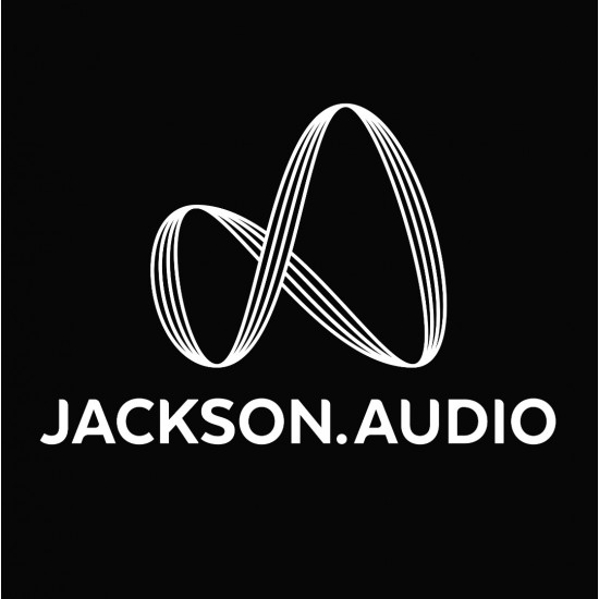 Jackson Audio Logo T-Shirt - Black Tee w/ White Logo