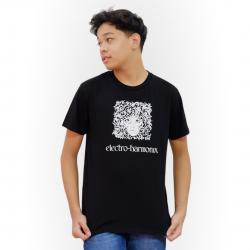 Electro-Harmonix Logo T-Shirt - Black Tee w/ White Logo