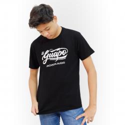 Jackson Audio El Guapo Logo T-Shirt - Black Tee w/ White Logo
