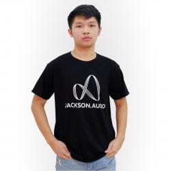 Jackson Audio Logo T-Shirt - Black Tee w/ White Logo