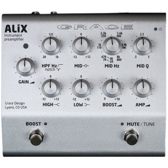 GRACE DESIGN - ALiX - STUDIO QUALITY INSTRUMENT PREAMPLIFIER / DI / EQ