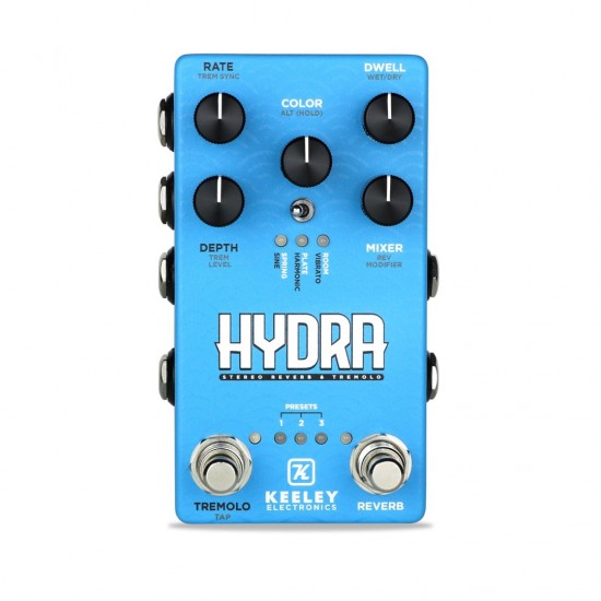 Keeley Electronics - HYDRA - Stereo Reverb & Tremolo