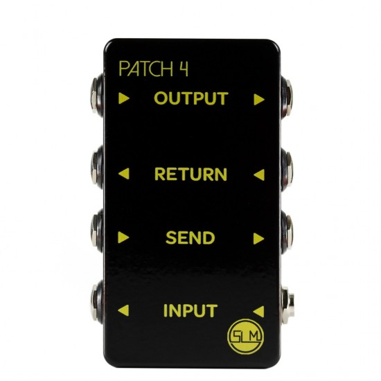 4 WAY PEDALBOARD PATCHBAY - MONO IN/OUT WITH SEND & RETURN