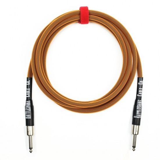 RATTLESNAKE - 10 FT - STANDARD INSTRUMENT CABLE - STRAIGHT TO STRAIGHT NICKEL PLUGS