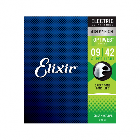 Elixir® - Electric Nickel Plated Steel Strings with OPTIWEB™ Super Light 09-42