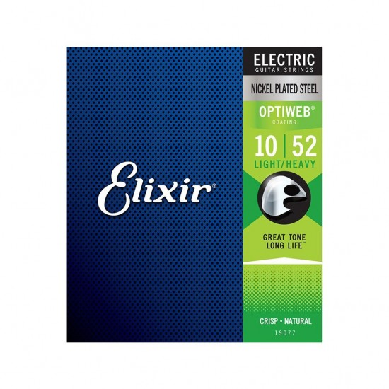 Elixir® - Electric Nickel Plated Steel Strings with OPTIWEB™ Light Heavy 10-52